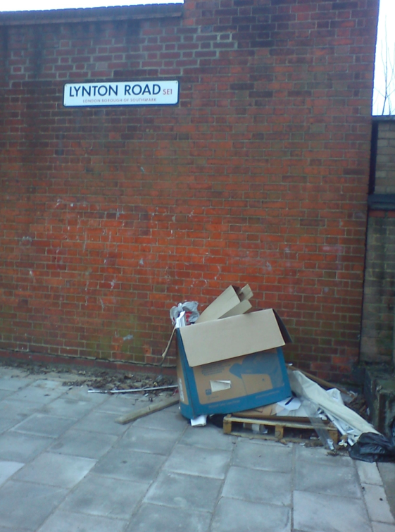 Lynton Road fly tipping